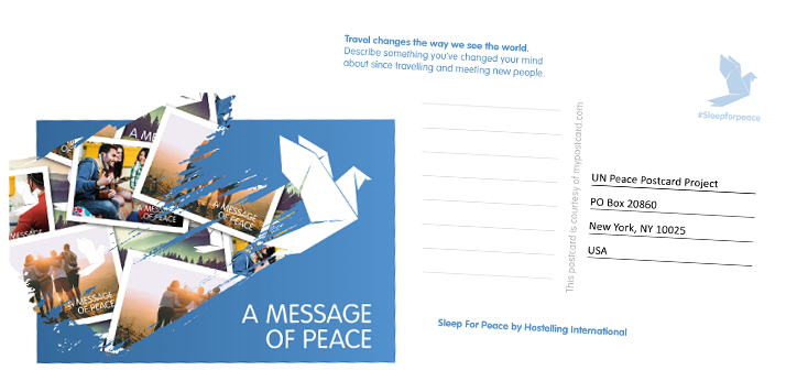 Sleep for Peace Postcard