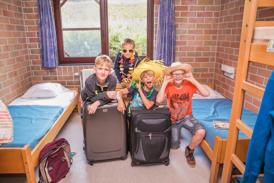 Kinderen in een vierpersoonskamer