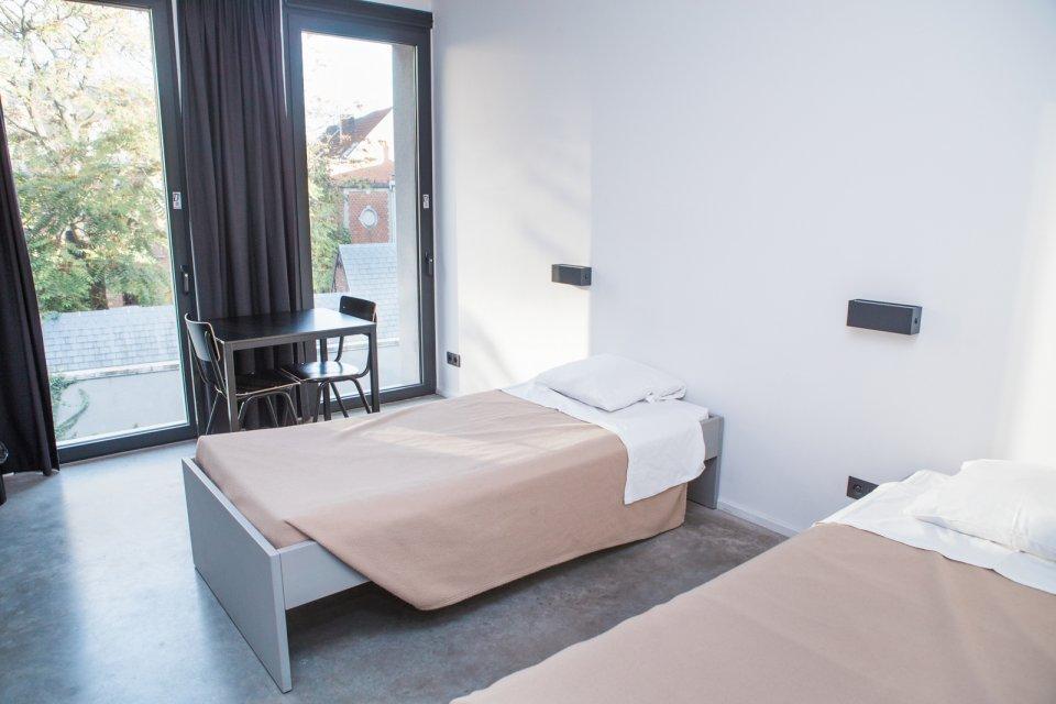 Tweepersoonskamer hostel Pulcinella