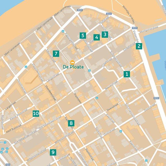 Street art wandeling oostende map