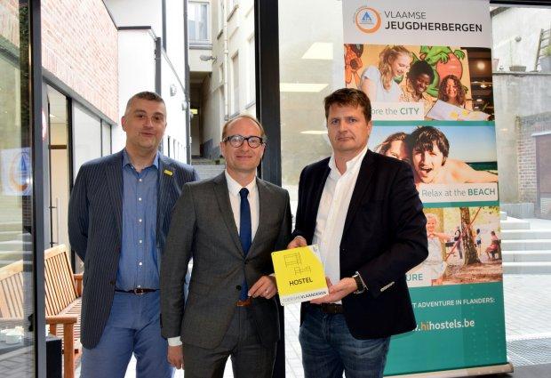 Officiële opening van de hostel door Minister Ben Weyts, Toerisme Vlaanderen en Vlaamse Jeugdherbergen vzw