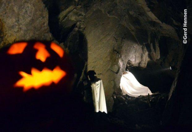 Halloween in de leisteenmijn