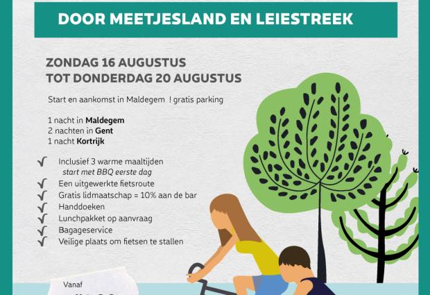 5-daagse fietsarrangement door Meetjesland en Leiestreek