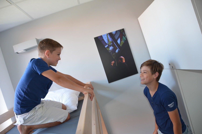 Kinderen op een stapelbed