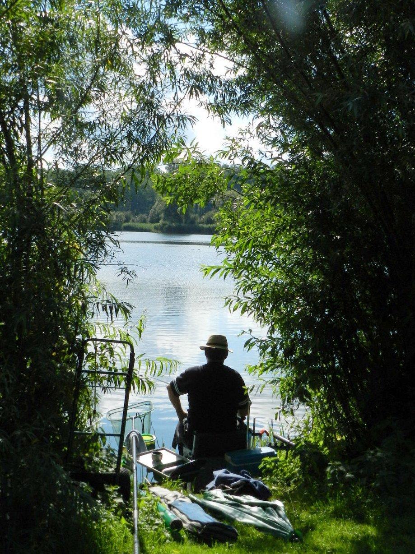 vissen aan De Gavers