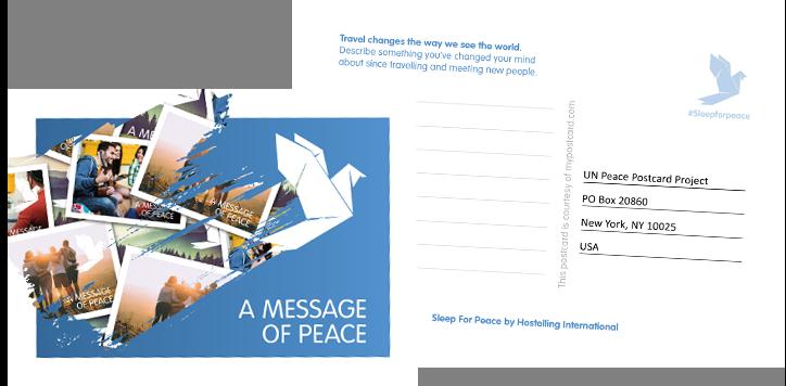 Sleep for Peace Postcard