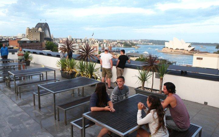 Zicht over Opera House & Harbour Bridge