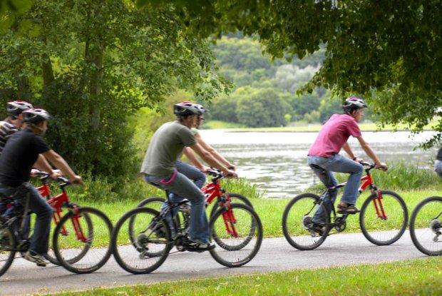 Groepje fietsers in Luxemburg