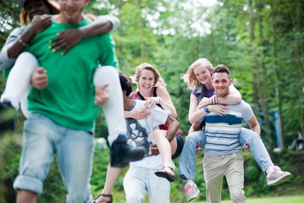 Groep jongeren in Wallonië